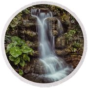Waterfall In The Opryland Hotel Round Beach Towel
