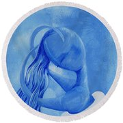 Waterfall Rainbow Soul Collection Round Beach Towel
