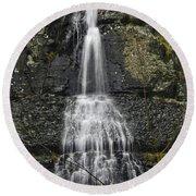 Waterfall01 Round Beach Towel