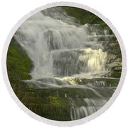 Waterfall02 Round Beach Towel