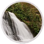 Waterfall04 Round Beach Towel