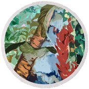 Waterfalling Jungle Round Beach Towel