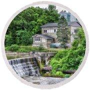 Waterfalls Cornell University Ithaca New York 04 Round Beach Towel