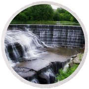 Waterfalls Cornell University Ithaca New York 05 Round Beach Towel