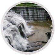 Waterfalls Cornell University Ithaca New York 06 Round Beach Towel