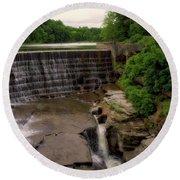 Waterfalls Cornell University Ithaca New York 08 Vertical Round Beach Towel