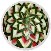 Watermelon Art Round Beach Towel