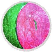 Watermelon Round Beach Towel by Inessa Burlak