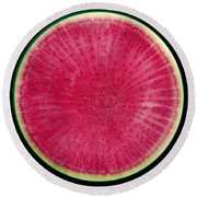 Watermelon Radish Round Beach Towel