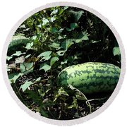 Watermelons Round Beach Towel