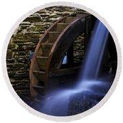 Watermill Wheel Round Beach Towel