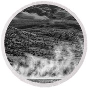 Waterspouts On Viedma Lake - Patagonia Round Beach Towel