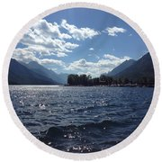 Waterton Lake Round Beach Towel