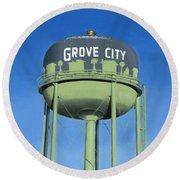 Watertower Grove City Round Beach Towel