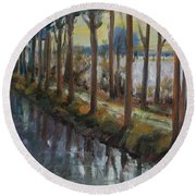 Waterway Round Beach Towel