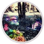 Watery Oasis Round Beach Towel
