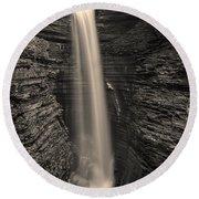 Watkins Glen Cavern Cascade #5 Round Beach Towel