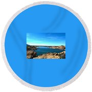 Watson Lake Round Beach Towel