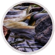 Wausau Whitewater Course Side View Round Beach Towel