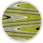 Wave Abstract Round Beach Towel