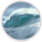 Wave And Spray Round Beach Towel