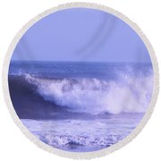 Wave At Jersey Shore Round Beach Towel