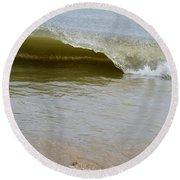 Wave At Sandbridge Virginia Round Beach Towel