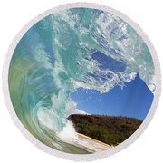 Wave Breaking Round Beach Towel