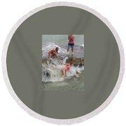 Wave Crasher Round Beach Towel
