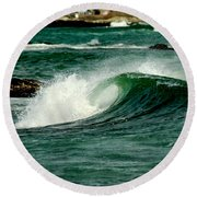 Wave Curl Round Beach Towel