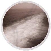 Wave Form Round Beach Towel