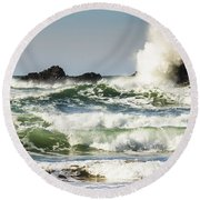 Wave Impact Round Beach Towel
