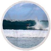 Wave Magnet Round Beach Towel