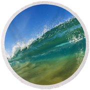 Wave - Makena Beach Round Beach Towel