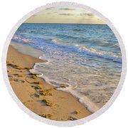 Wave Meditation Round Beach Towel