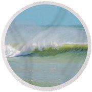 Wave Mist Round Beach Towel