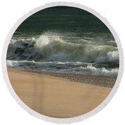 Wave Of Light - Jersey Shore Round Beach Towel