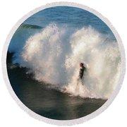 Wave Rider  Round Beach Towel