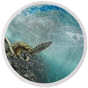 Wave Rider Turtle Round Beach Towel