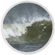 Wave Study Round Beach Towel