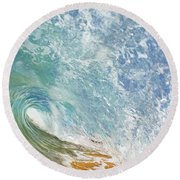Wave Tube Along Shore Round Beach Towel