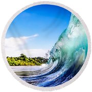 Wave Wall Round Beach Towel
