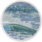 Waverider Round Beach Towel