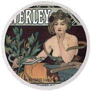 Waverley Cycles - Paris 1898 Round Beach Towel