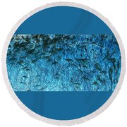Waves Of Blue Round Beach Towel
