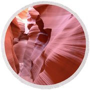 Waves Of Colorful Sandstone Round Beach Towel
