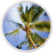 Waving Palm Round Beach Towel