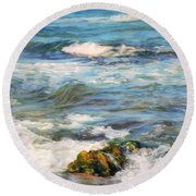 Sea Waves ...  Round Beach Towel
