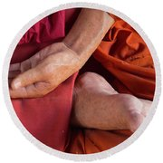 Wax Monk Round Beach Towel