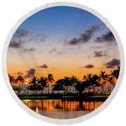 Waxing Crescent Round Beach Towel